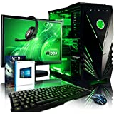 Vibox VBX-PC-1295 Apache Paket 9 54,6 cm (21,5 Zoll) Gaming Desktop-PC (AMD Phenom Quad Core FX-6300, 16GB RAM, 1TB HDD, NVIDIA Geforce GTX 960, Win 10 Home) grün