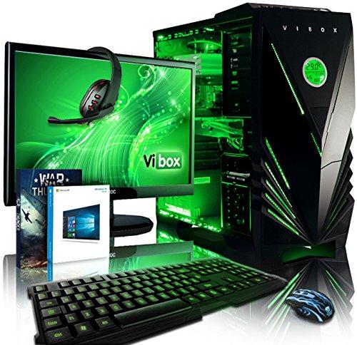 Vibox VBX-PC-1295 Apache Paket 9 54,6 cm (21,5 Zoll) Gaming Desktop-PC (AMD Phenom Quad Core FX-6300, 16GB RAM, 1TB HDD, NVIDIA Geforce GTX 960, Win 10 Home) grün Desktop-geforce Gtx 960