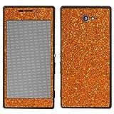 atFolix Sony Xperia M2 Skin FX-Glitter-Orange-Juice Designfolie Sticker - Reflektierende Glitzerfolie