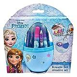 Undercover FRZH3960 - Disney Frozen, Kreativ Set im Ei, 14-teilig