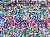 Funky Union Jack Flaggen Print Stoff 100% Baumwolle