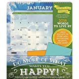 2016 Words to Live By Pockets Plus Wall Calendar