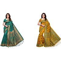 ANNI DESIGNER Women Silk Saree with Blouse Piece
