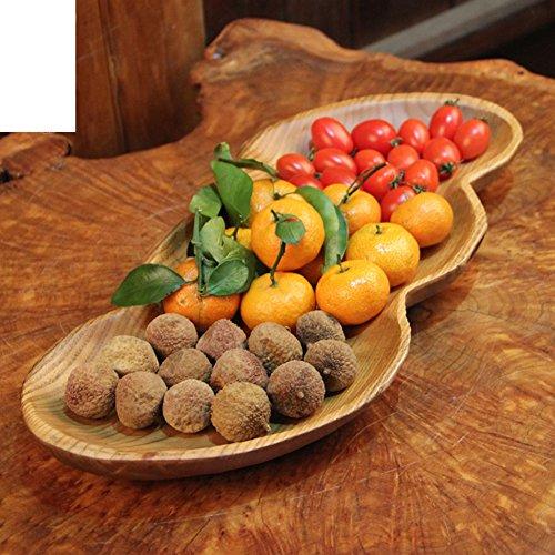 stilvolle feste Holz Bonbon Schüssel Holzhotel Lieferungen Obstteller Erdnuss-förmige Schüsseln schnitzen-B Korb Schnitzen