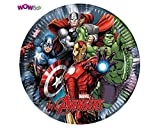 WOW AVENGERS POWER Large Paper Plates - Pack of 8