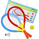 Akokie Tennisschläger Set, Federball Kinder Badminton Racket Set, Spielzeug Draussen Strand Spielzeug für Kinder ab 3 Jahren , MEHRWEG