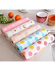 Maharsh Printing Antibacterial Cabinet Plastic Foam Household Wardrobe Moisture Drawer Pad Waterproof Non-Slip Paper Kitchen Cupboard Liners Roll Mat, 30x300 cm (Multicolour) - Set of 3