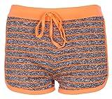 NOROZE Femmes Ligne Tache Hot Pants Dames Vêtements Actifs Shorts Pantalon Court (Corail, L)