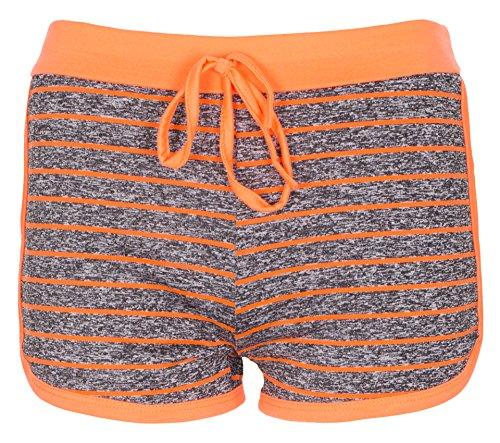 Noroze Mädchen Linie Flecken Hot Pants Activewear Shorts Kurze Hose (13 Jahre, Koralle)