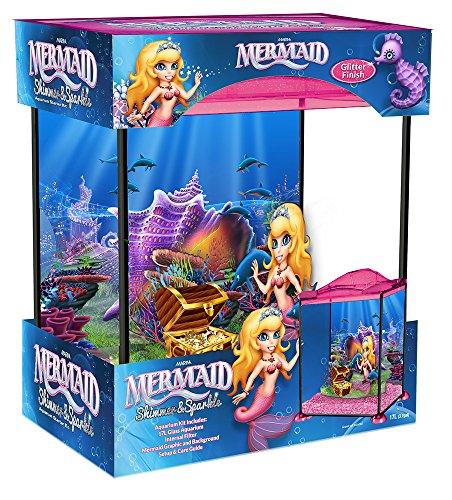 Marina Mermaid Shimmer and Sparkle - Acuario de juguete con sirena, 17 L