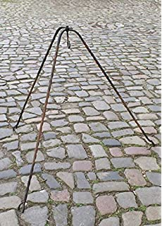 Feuerschale 60cm Komplett Set 123home24.com Schwenkgrill 185cm Dreibein Stahl 50cm inkl Premium Qualitat Geschmiedetes Finish