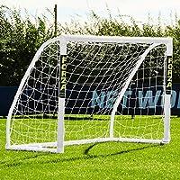 EuroMarkt Forza Match But de Foot PVC 1,5m x 1,2m avec Filet (Mur de Tir Optionnel) [Net World Sports]