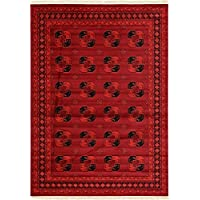 geometrico tappeto Bokhara, Polipropilene, Red, 8 x 11