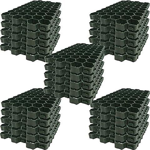 Rasengitter 60x40cm Rasengitterplatten Paddockplatte Platte Rasenwaben Rasenwaben Platte (25,