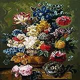 zlhcich Digitale malerei palast Blume Landschaft Wohnzimmer Dekoration malerei System Q004-16 Rahmen 40 cm * 50 cm