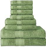 Utopia Towels - Handtuchset aus Baumwolle - 2 Badetuch, 2 Handtücher und 4 Washclappen - 700 g/m², Grau
