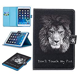 Shinyzone Hülle für Apple iPad Mini 1,iPad Mini 2 Hülle,iPad Mini 3 Hülle,iPad Mini 4 Hülle,iPad Mini 5 Hülle,PU Leder Brieftasche Kartenfach Stand Case mit Auto Schlafen/Aufwachen,Löwe