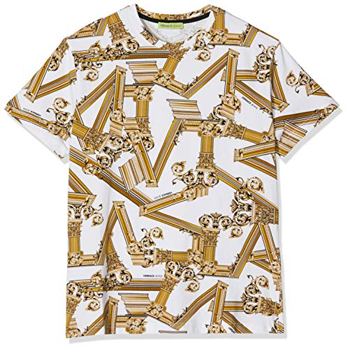 Versace Jeans Couture Herren Man Man T-Shirt Pullunder, Weiß (Bianco Ottico 003), X-Large