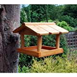 Hanging Wildbird Table Feeder. Wild Bird Wooden Seed Feeding Station. Fat Balls.
