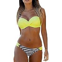 Yuson Girl Bikini Costumi da Bagno Donna Bikini Costume Intero Costumi da Bagno Donna con Tinta Unita