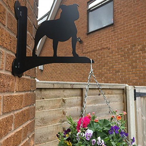 Made O' Metal Pet Staffordshire Bull Terrier Dog Stylish Hanging Basket Bracket