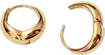 Chooz Designer Studio Kaju Gold Plated Alloy Bali Hoop Earrings for Men