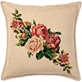 Amayra Home Decorative Hand Made Cotton Cushion Covers(16x16-inch, Multicolour)- Set of 5