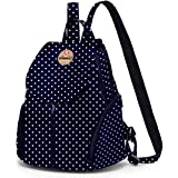 Bonmaro B Navy Blue Doro Polka Dots 20 Liters Stylish Fashion Casual Backpack for Girls