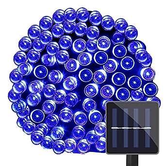 LE corda luminosa a LED 15m 100LEDs, 1.2 V blu pannello Solare