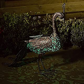 Altuna/bikain Smart Garden Products 1050740RS Solar Silhouette Peacock