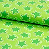 Stoff Baumwolljersey Stars in the middle lime by Petra