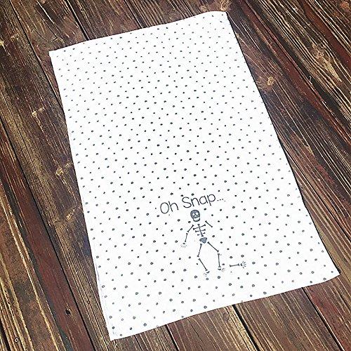 Geschenk frische kleine und schöne Gaze Handtuch serviette Drucken atmungsaktiv Handtuch 71 x 48 cm kreative Persönlichkeit, einen Punkt Skelett, 71 x 48 cm (Serviette Drucken)