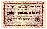 Banknoten Fünf Millionen Mark, Deutsches Reich, 1923, Nr. 74719