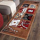 The Home Talk Vascose Multicolour Carpet(50x150cm, Camel Brown)