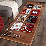 #2: Multicolor classy Modern Look Carpet / Rug / Passage / Floor mat ( 50 x 150 cm ), Vascose , Soft To Touch Best for bedroom / living room / drawing room By The Home Talk (Camel Brown)