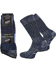 6 Paar Jeans Socken mit Frotteesohle aus atmungsaktiver Baumwolle von normani®