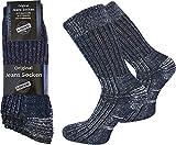 normani 6 Paar Jeans Socken mit Frotteesohle aus Atmungsaktiver Baumwolle Farbe Blau Größe 43/46