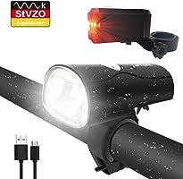 LIFEBEE LED Fahrradlicht, LED Fahrradbeleuchtung StVZO Zugelassen USB Wiederaufladbare Frontlicht und Rücklicht Set,...