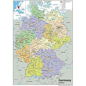 Lysco Deutschlandkarte Din A1 Format Gefaltet Auf Din A4 K 712