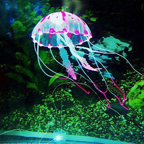 Künstliche Qualle für Fisch Aquarium Leuchtende Effekt Fake Jellyfish For Fish Aquarium TankGlowing Effect Rosa