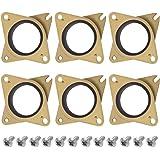SIQUK 6 Pièces Stepper Amortisseurs De Vibration En Acier Et Caoutchouc Et 12 Pièces M3 5mm Vis Pour Impression 3D