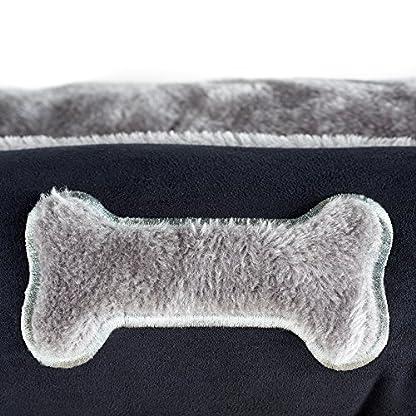 Me & My Black & Grey Large Super Soft Dog Bed 4