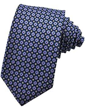 PenSee–Cravatta Seta Motivo Geometrico necktie-various colori