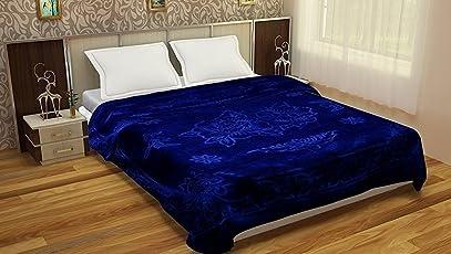 Goyal's Luxurious Embossed Korean Mink Single Bed Blanket Heavy