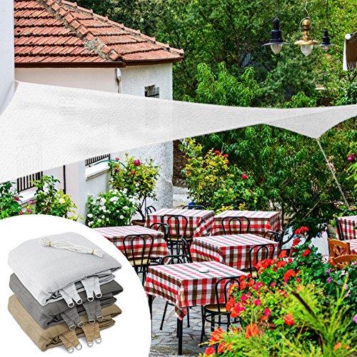 Casa pura tenda a vela quadrata o rettangolare | ombreggiante | 5x5m | bianca