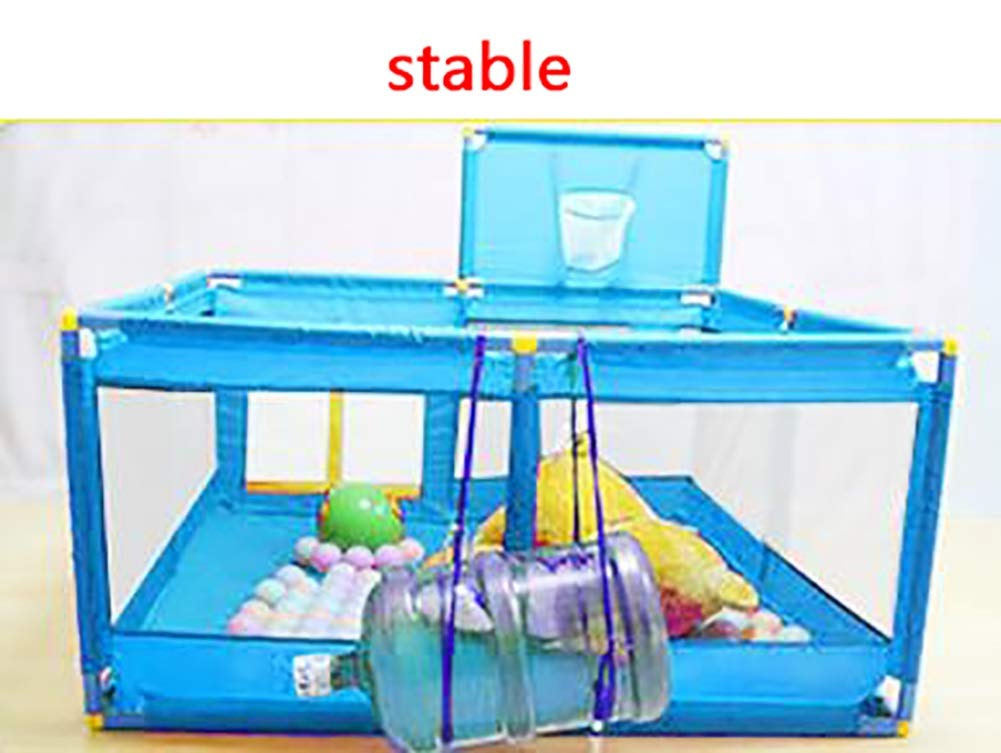 Protable Baby Game Playpen, Large Blue Boys Safety Play Center Yard, 128×128×66cm (Size : Playpen)  BSNOWF
