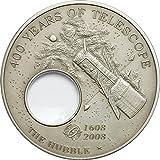 Power Coin Hubble Telescopio 400th Anniversary Telescope Invention Moneta Argento 5$ Palau 2008