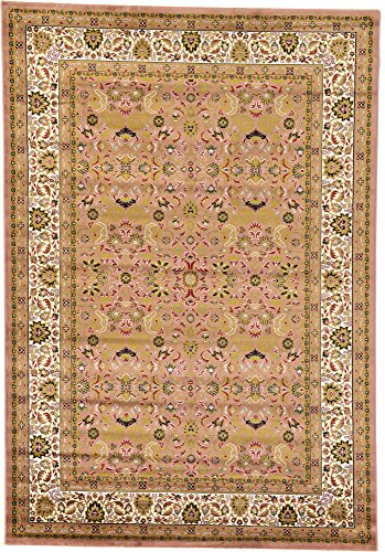 Country tradizionale 7-feet by 10-feet (7 'x 10') tappeto Kashan Puce