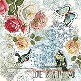 """""""el amor está en el aire"""" - 2016 - diario 20 unidades - servilletas de papel 3ply - 33 x 33 cm"""