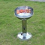ZZ-aini Embudo Grill Acero Inoxidable Portátil Redonda, Camping Picnic Aire Libre Barbecue BBQ